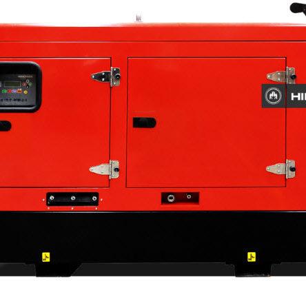 Generator electric trifazic HHW40T5 cu carcasa insonorizata cu puterea de 45KVA